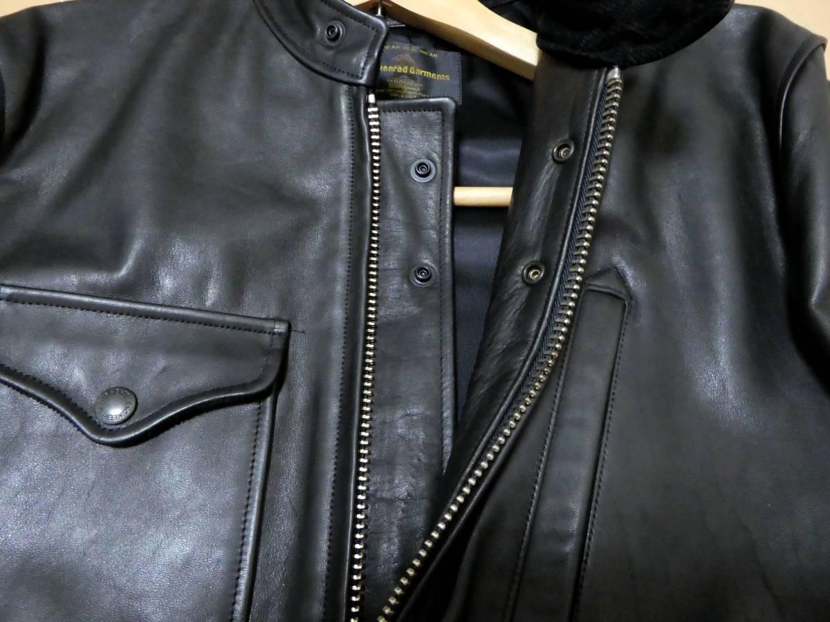 USA製 エンジニアードガーメンツ×ゴールデンベア Engineered Garments×GOLDEN BEAR 馬革 ホースハイド ライダースジャケット クラブマン _画像5