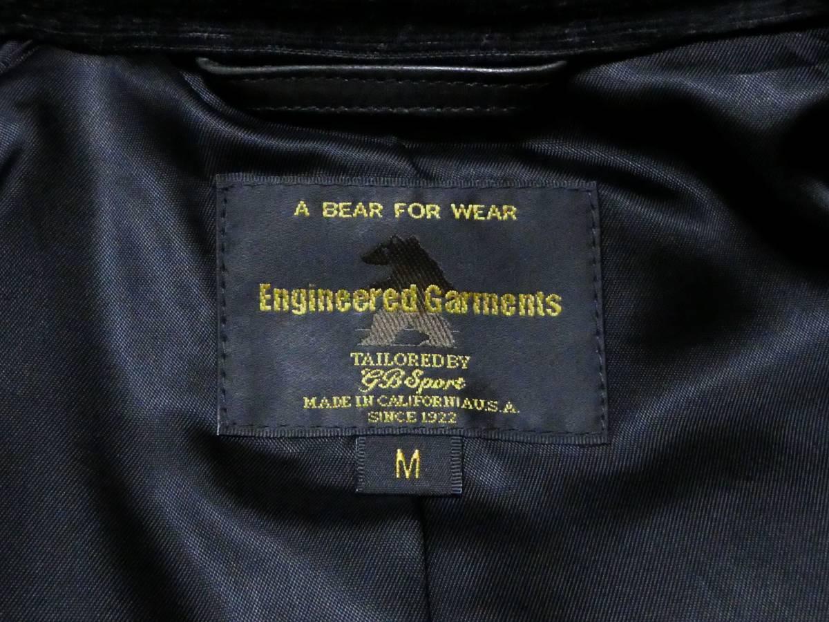 USA製 エンジニアードガーメンツ×ゴールデンベア Engineered Garments×GOLDEN BEAR 馬革 ホースハイド ライダースジャケット クラブマン _画像8