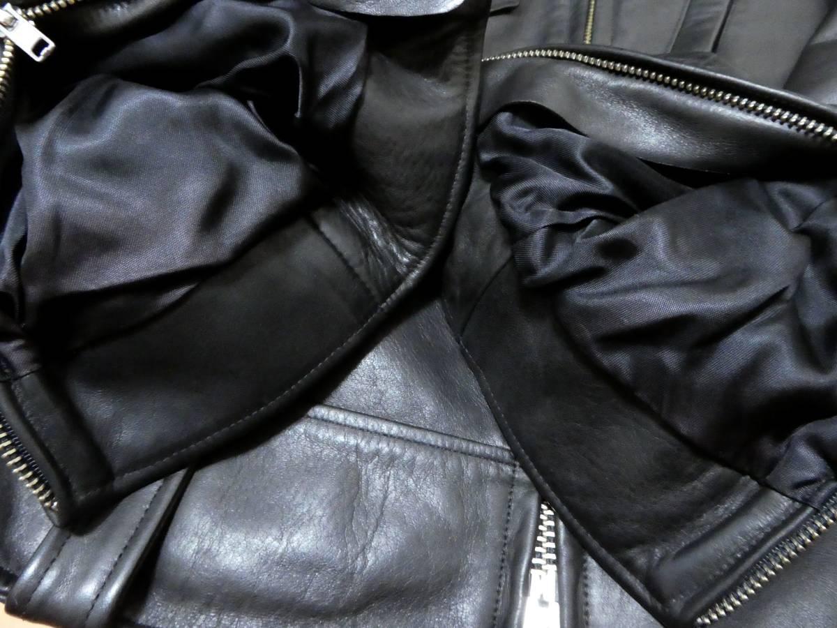 USA製 エンジニアードガーメンツ×ゴールデンベア Engineered Garments×GOLDEN BEAR 馬革 ホースハイド ライダースジャケット クラブマン _画像10