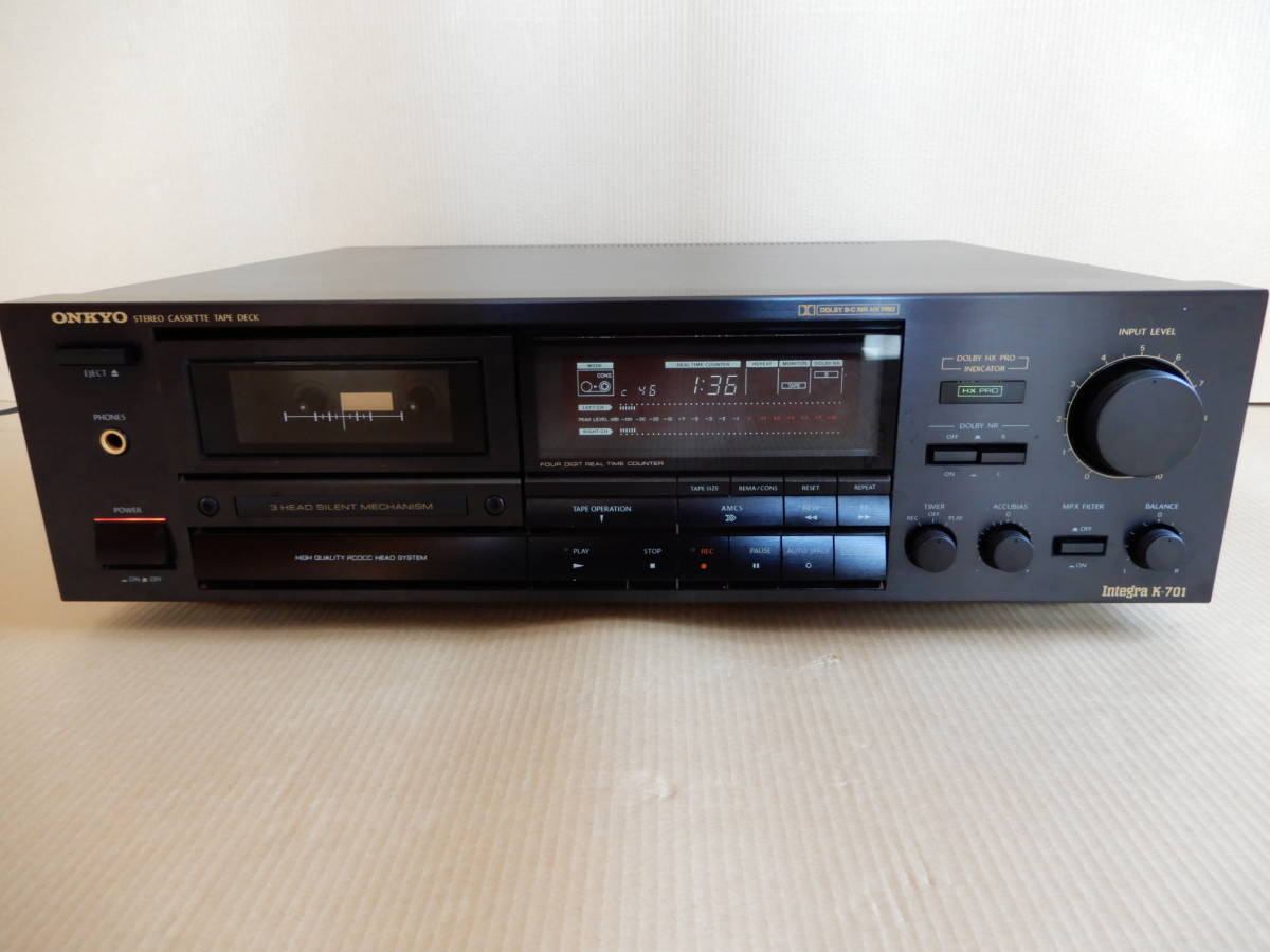 オンキョーステレオカセットテープデッキintegra -701