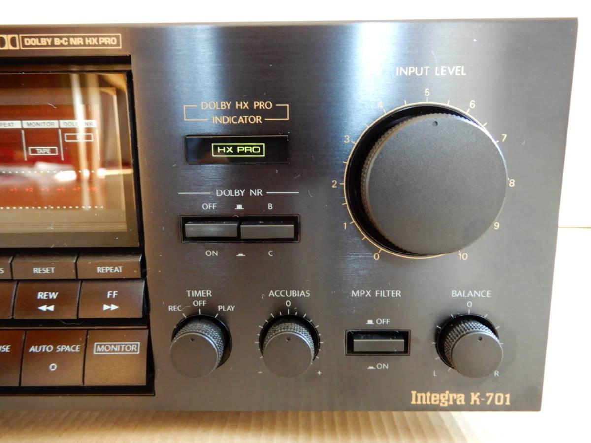 オンキョーステレオカセットテープデッキintegra -701_画像5