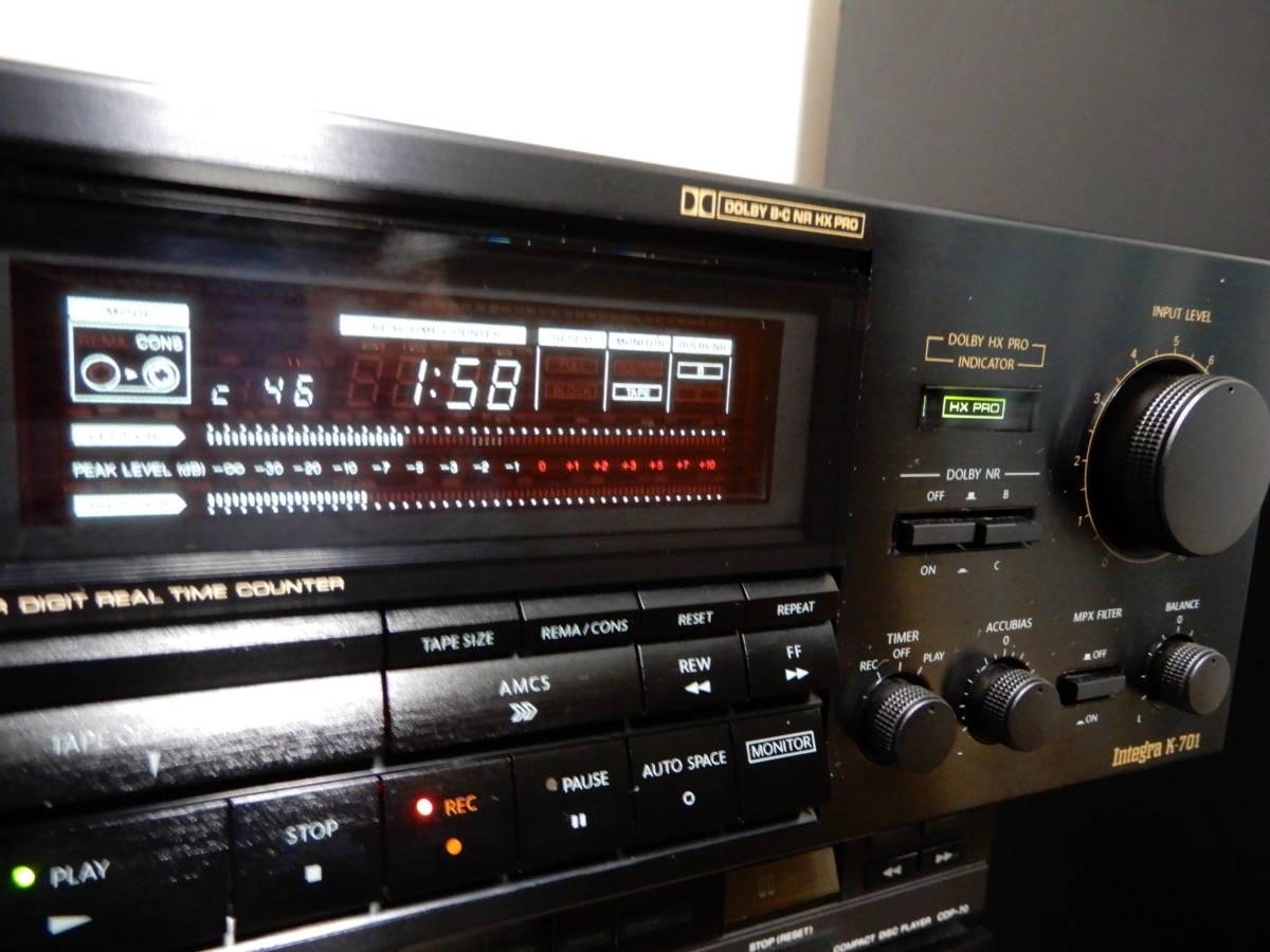オンキョーステレオカセットテープデッキintegra -701_画像7
