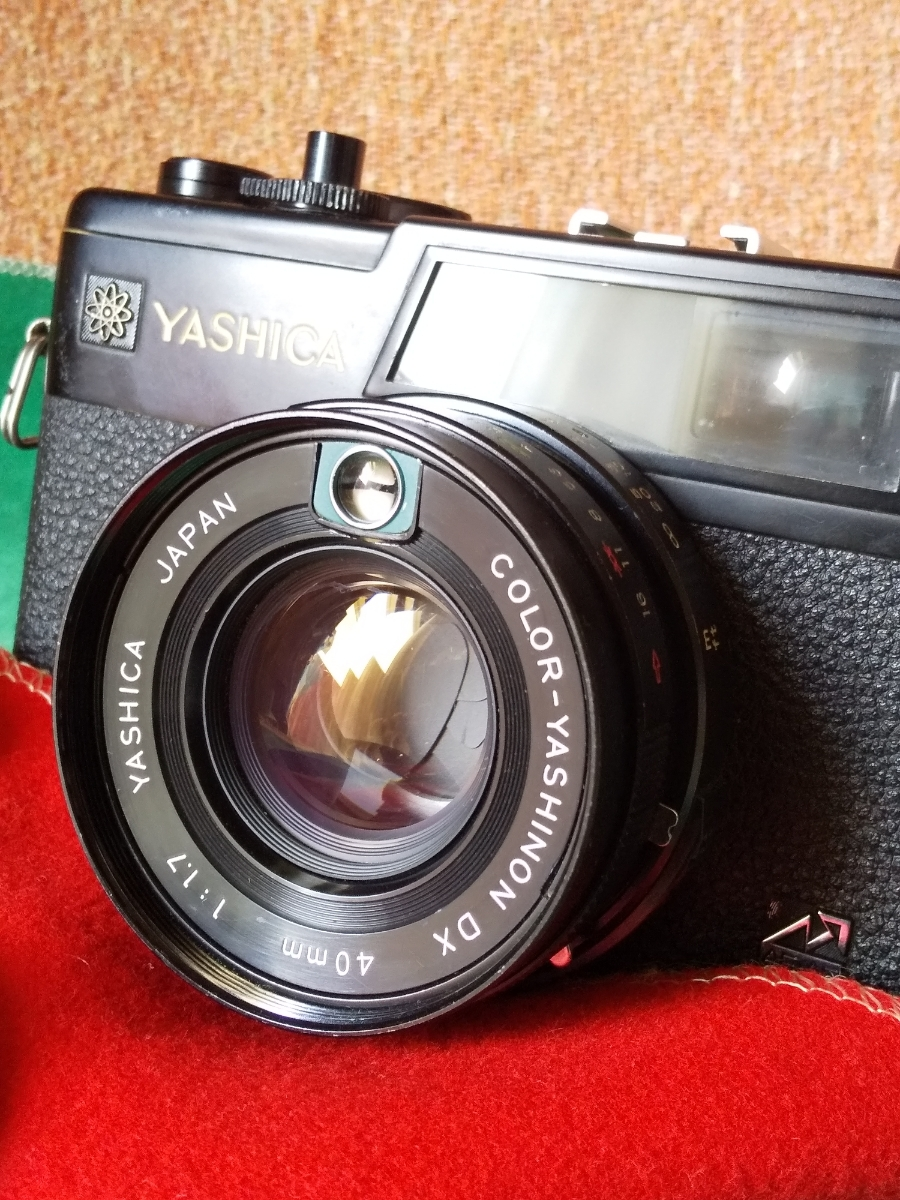 動作品/傷有【YASHICA ELECTRO 35 GX】電池アダプター付属/ヤシカエレクトロ_画像2