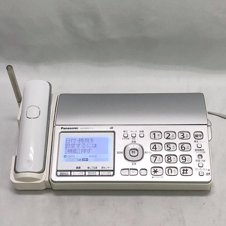 Panasonic パーソナルファクス KX-PD551DL 子機一台付 R中0502_画像2