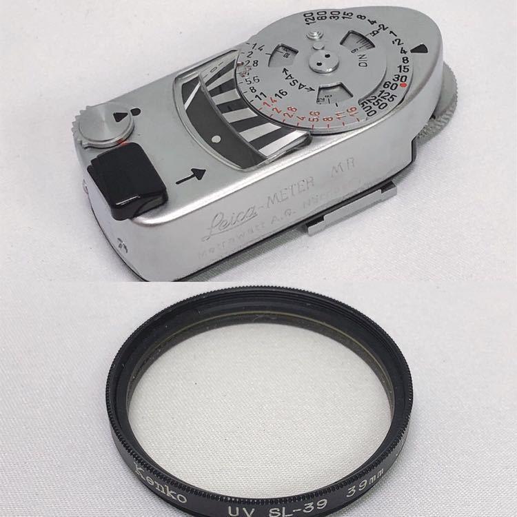 動作品 ライカ LEICA M4 カメラ LEITZ TELE-ELMARIT-M 1:2.8/90 ライカメーターMR フィルター付き R阿0515_画像9