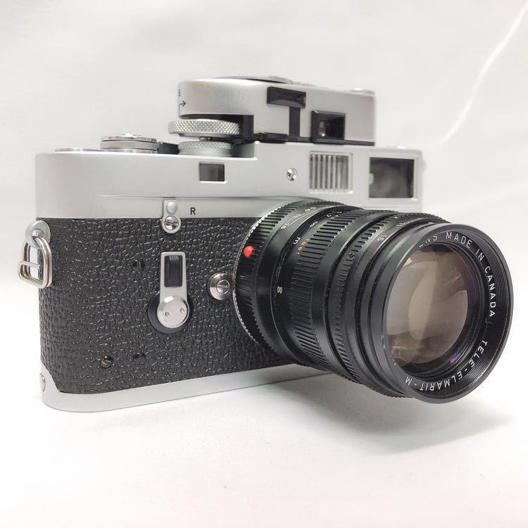 動作品 ライカ LEICA M4 カメラ LEITZ TELE-ELMARIT-M 1:2.8/90 ライカメーターMR フィルター付き R阿0515