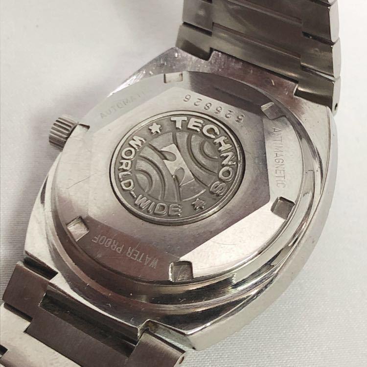 稼働 TECHNOS テクノス Kaiser カイザー メンズ 自動巻き 腕時計 R尼0520_画像5