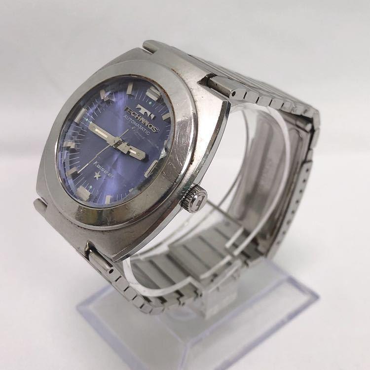 稼働 TECHNOS テクノス Kaiser カイザー メンズ 自動巻き 腕時計 R尼0520_画像3