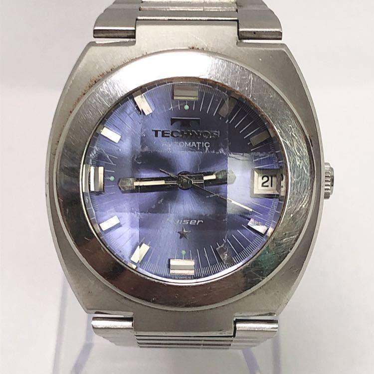 稼働 TECHNOS テクノス Kaiser カイザー メンズ 自動巻き 腕時計 R尼0520