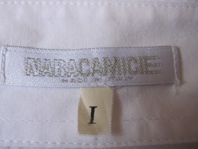 ★超美品NARA CAMICE 胸元フリルいっぱいのブラウス イタリア製 送料込み★_画像6