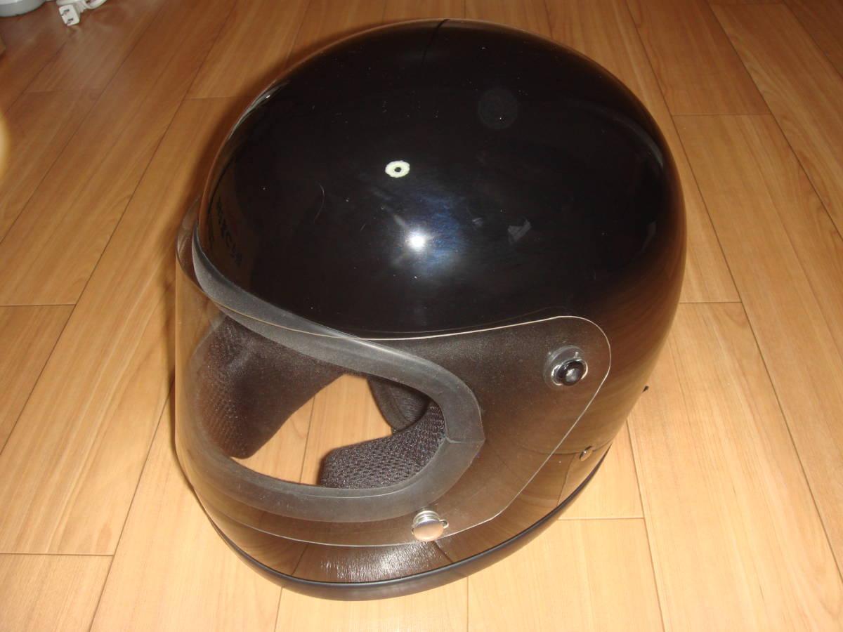 HORIZON 族ヘル 旧車 当時物 ヘルメット サイズL ブラック 美品_画像2