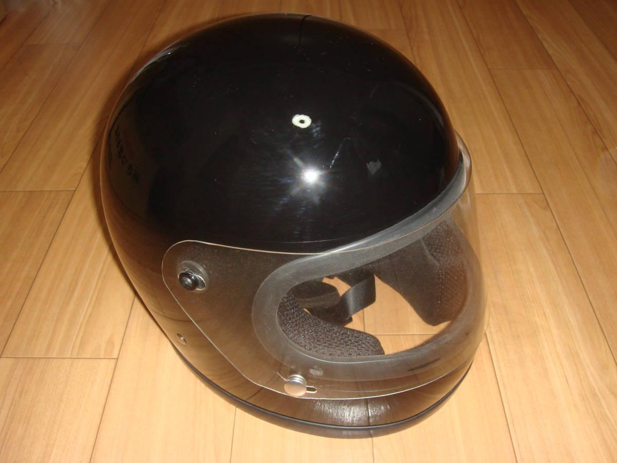 HORIZON 族ヘル 旧車 当時物 ヘルメット サイズL ブラック 美品_画像3