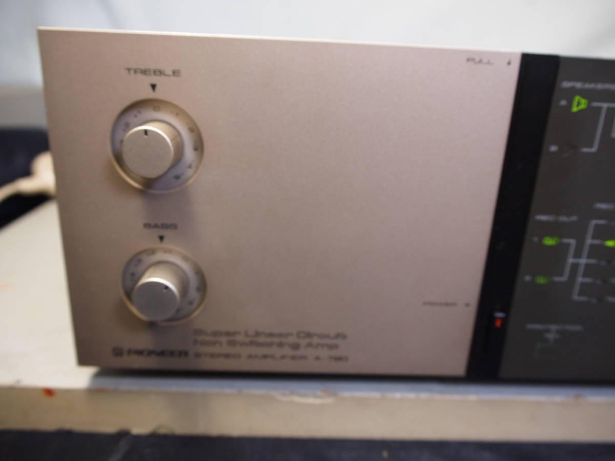 パイオニア Pioneer  プリメイン・アンプ A-780 完動品【3ヶ月保証】90520_画像2
