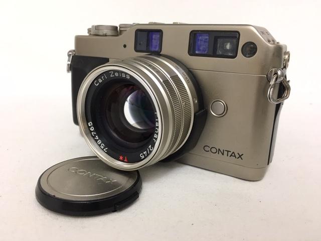 【大黒屋】激安1円~ CONTAX コンタックス 一眼レフ フィルムカメラ G1 レンズ Carl Zeiss Planar 2/45 フラッシュ TLA140 中古ジャンク品_画像2