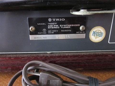 TRIO トリオ AM-FM チューナー 700T_画像7