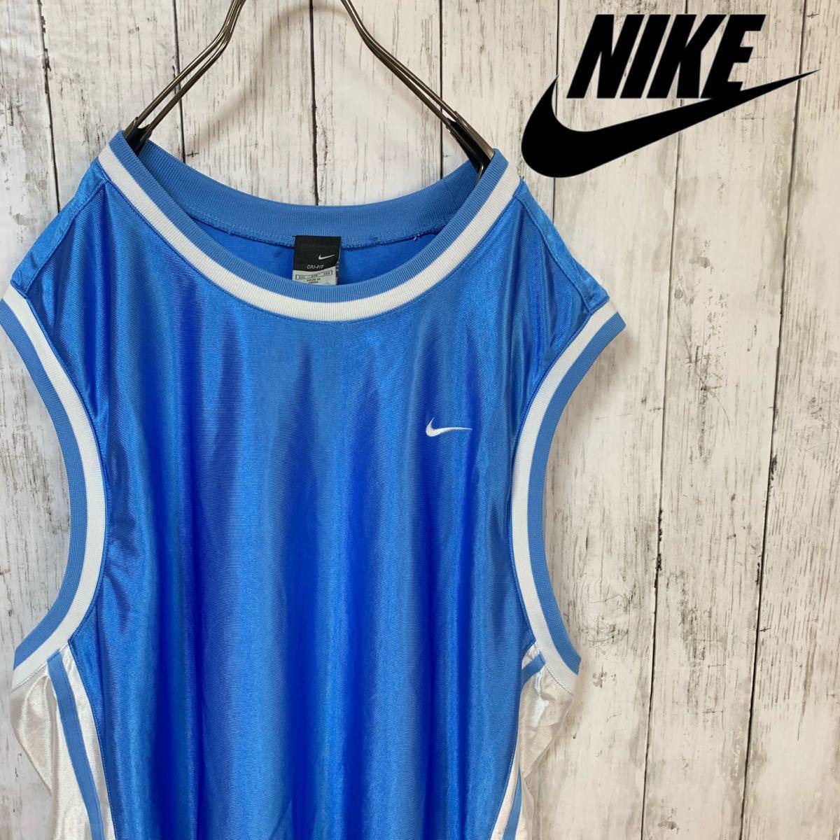 即決 NIKE ナイキ バスケ ゲームシャツ タンクトップ XXLサイズ メンズ 中古品
