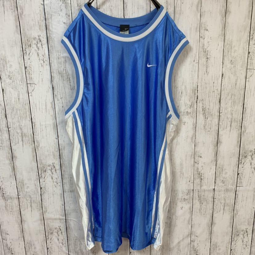 即決 NIKE ナイキ バスケ ゲームシャツ タンクトップ XXLサイズ メンズ 中古品_画像2