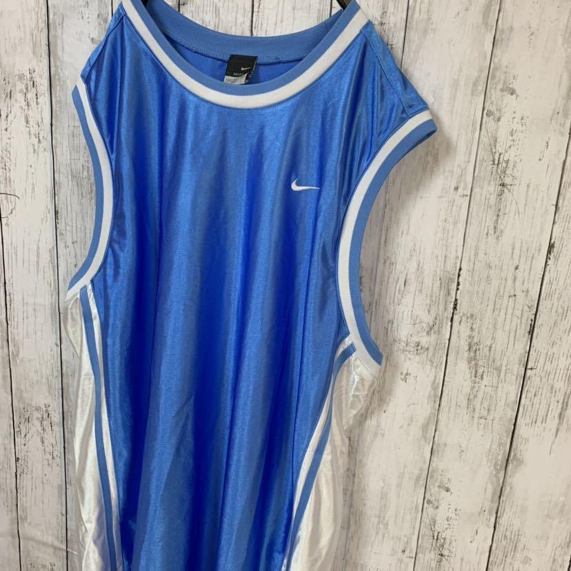 即決 NIKE ナイキ バスケ ゲームシャツ タンクトップ XXLサイズ メンズ 中古品_画像5