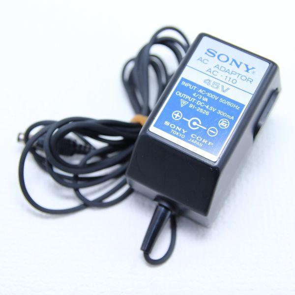 送料510円 レア 希少 SONY ソニー AC-110 ICF-5500/5900用 ACアダプタ 4.5V 300mA