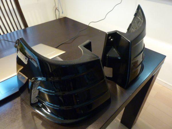 アルファード ヴェルファイア 20 系 アクセルオート リアコーナーパネル 202ブラック塗装済  左右セット_画像2