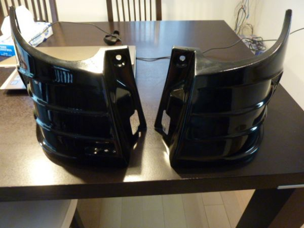 アルファード ヴェルファイア 20 系 アクセルオート リアコーナーパネル 202ブラック塗装済  左右セット_画像1