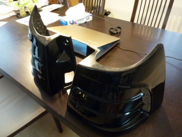 アルファード ヴェルファイア 20 系 アクセルオート リアコーナーパネル 202ブラック塗装済  左右セット_画像3