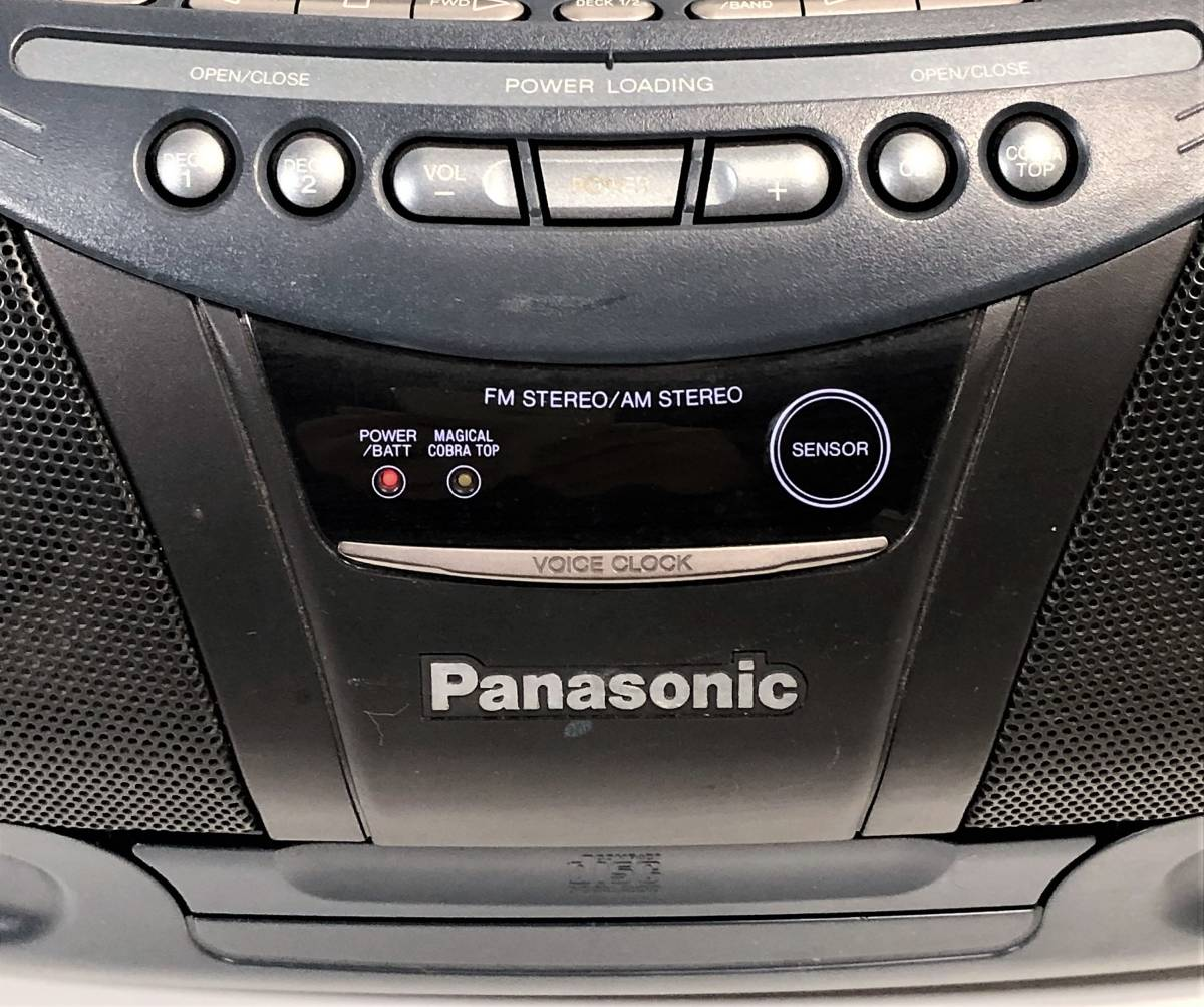 当時物 パナソニック CDバブルラジカセ Panasonic RX-DT95 コブラトップ仕様、ジャンク扱い_画像10