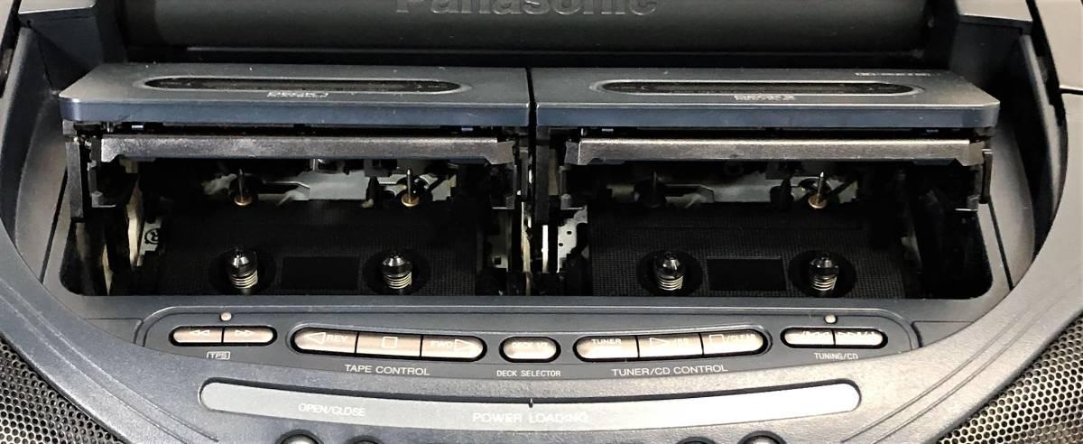 当時物 パナソニック CDバブルラジカセ Panasonic RX-DT95 コブラトップ仕様、ジャンク扱い_画像3