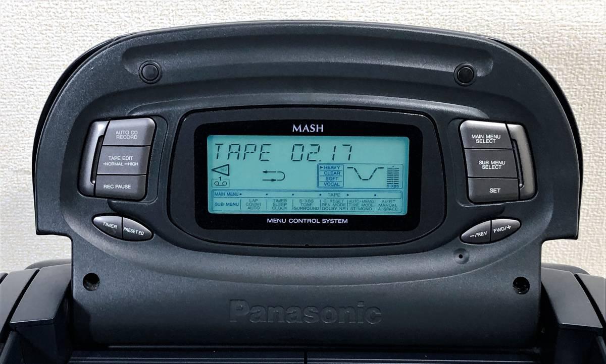当時物 パナソニック CDバブルラジカセ Panasonic RX-DT95 コブラトップ仕様、ジャンク扱い_画像2