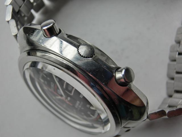 セイコー メンズ腕時計 5スポーツスピードタイマー クロノグラフ オートマチック 自動巻き 7017 黒文字盤_画像4