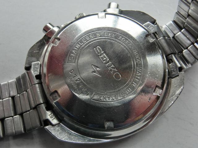 セイコー メンズ腕時計 5スポーツスピードタイマー クロノグラフ オートマチック 自動巻き 7017 黒文字盤_画像6
