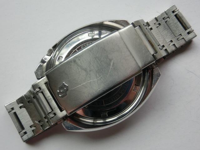 シチズン メンズ腕時計 コスモトロンX8 電磁テンプ式 シルバー色 カットガラス 大きめケース_画像6