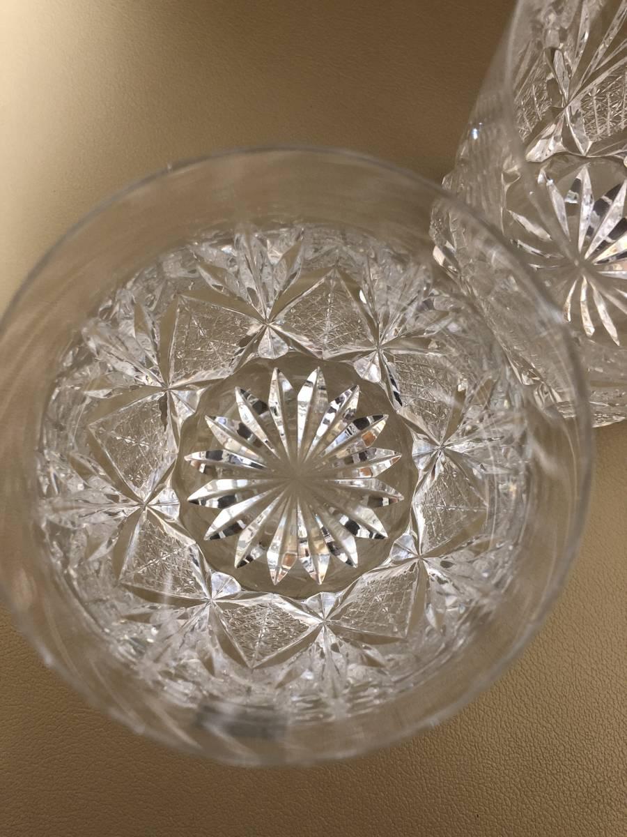 HOYA ホヤ クリスタル ロックグラス 3個セット 美品_画像4