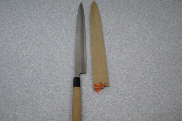 C001010F】正広作 別撰 包丁 柳刃包丁 刺身包丁 刃渡り317mm 背の厚み5mm