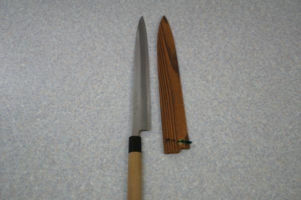 C000910F】菊光極上 包丁 柳刃包丁 刺身包丁 刃渡り321mm 背の厚み4mm