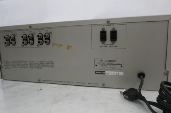 HR199H VICTOR ビクター SEA-70 グラフィックイコライザー グライコ オーディオ 音響機器 ミュージック 通電確認済 SEA70_画像7