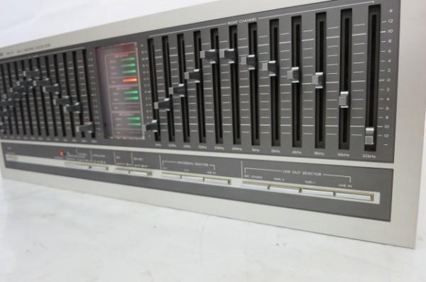 HR199H VICTOR ビクター SEA-70 グラフィックイコライザー グライコ オーディオ 音響機器 ミュージック 通電確認済 SEA70_画像3