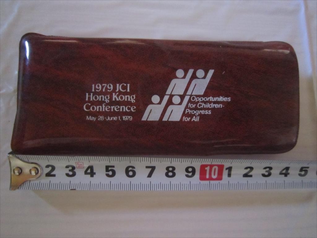 超レア! 限定 非売品 JAPAN JCI 日本青年会議所 香港 1979 くし ミラー 鏡 櫛 ヘアセット ケース付き_画像1