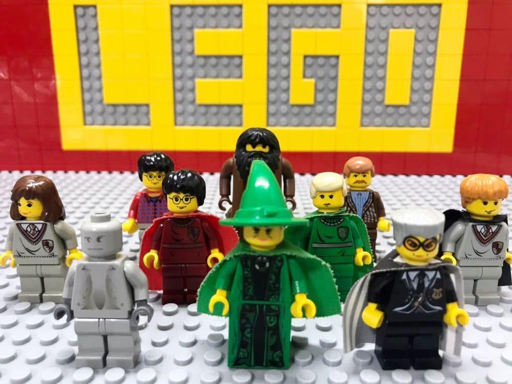 ☆ハリーポッター☆ レゴ ミニフィグ 大量10体 マグゴナガル先生 マダム・フーチ ハグリッド など LEGO 人形 ホグワーツ城