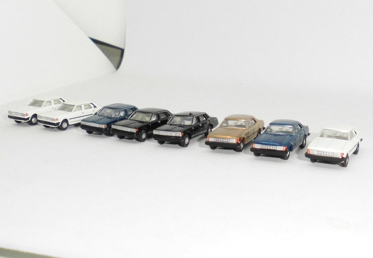 カーコレクション セドリック・マークⅡ 8台セット 覆面パトカー含む ★ 車運車搭載にも最適 ★ カーコレ ★