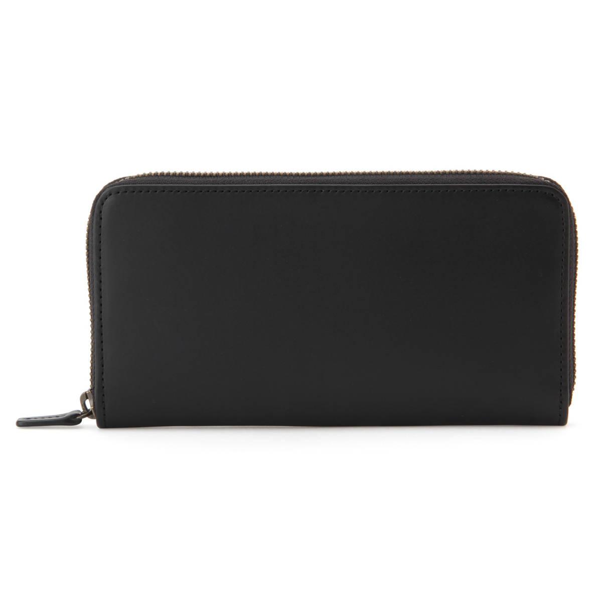 新品 無印良品 MUJI イタリア産 ヌメ革 ラウンドファスナー 長財布 ブラック 黒 正規品