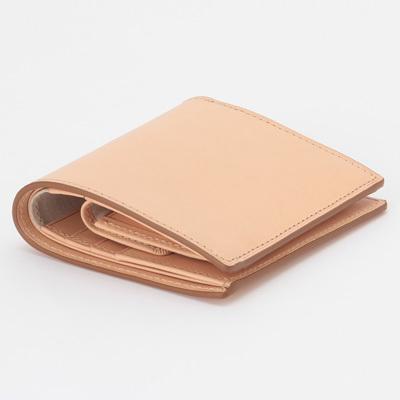 新品 無印良品 MUJI イタリア産 ヌメ革 二つ折り 財布 正規品 生成 ベージュ ウォレット_画像3