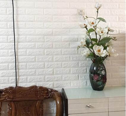 50枚セット 3D壁紙 DIYレンガ調壁紙シール ホワイト レンガ調 壁紙 ウォールステッカー レンガ _画像10