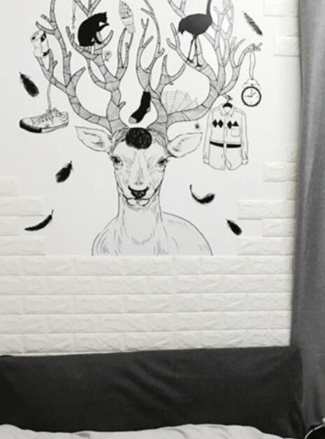 50枚セット 3D壁紙 DIYレンガ調壁紙シール ホワイト レンガ調 壁紙 ウォールステッカー レンガ _画像8