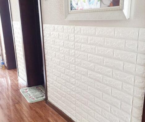 50枚セット 3D壁紙 DIYレンガ調壁紙シール ホワイト レンガ調 壁紙 ウォールステッカー レンガ