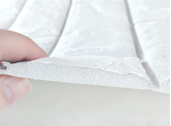 50枚セット 3D壁紙 DIYレンガ調壁紙シール ホワイト レンガ調 壁紙 ウォールステッカー レンガ _画像6