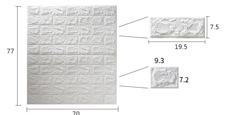 50枚セット 3D壁紙 DIYレンガ調壁紙シール ホワイト レンガ調 壁紙 ウォールステッカー レンガ _画像3
