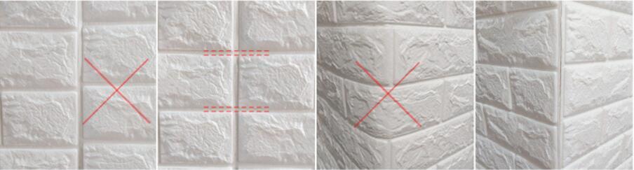 50枚セット 3D壁紙 DIYレンガ調壁紙シール ホワイト レンガ調 壁紙 ウォールステッカー レンガ _画像7