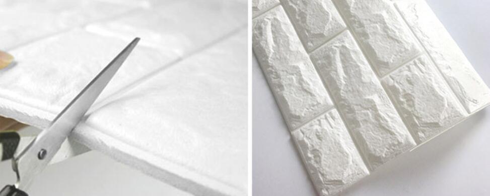 50枚セット 3D壁紙 DIYレンガ調壁紙シール ホワイト レンガ調 壁紙 ウォールステッカー レンガ _画像4