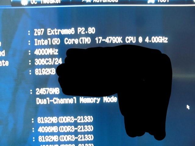 正常動作品!ASRock Z97 Extreme6 LGA1150 BIOS最新更新済み 付属品あり_画像6